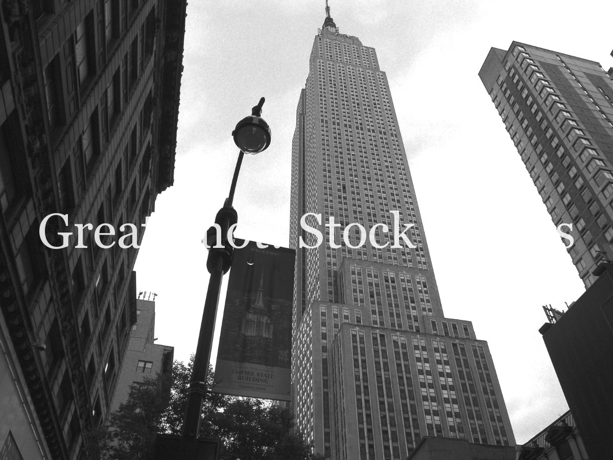 Empire State Building, Black and White, Street Lights, Architecture, Urban, Buildings, Cityscape, Manhattan, New York City, USA 8